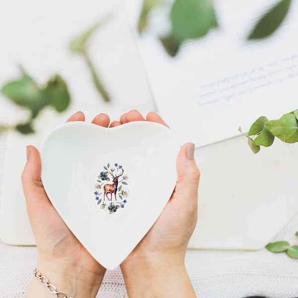Woodland Creature Stag Heart Dish by Toasted Crumpet
