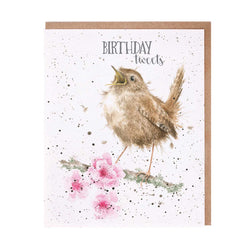 Birthday Tweets Card by Wrendale