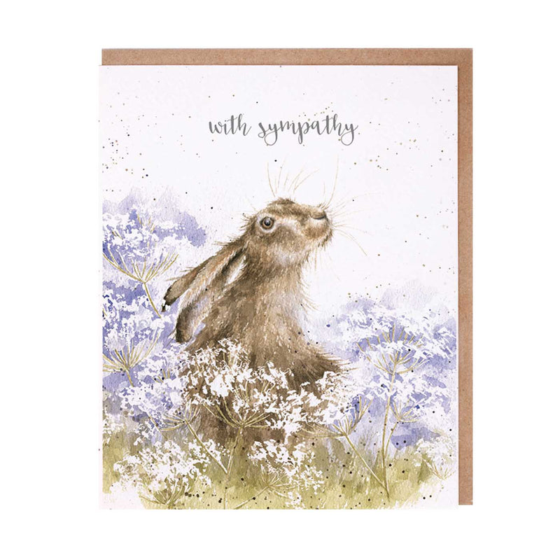 With Sympathy Hare Card