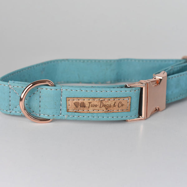 Ocean Blue Cork Dog Collar