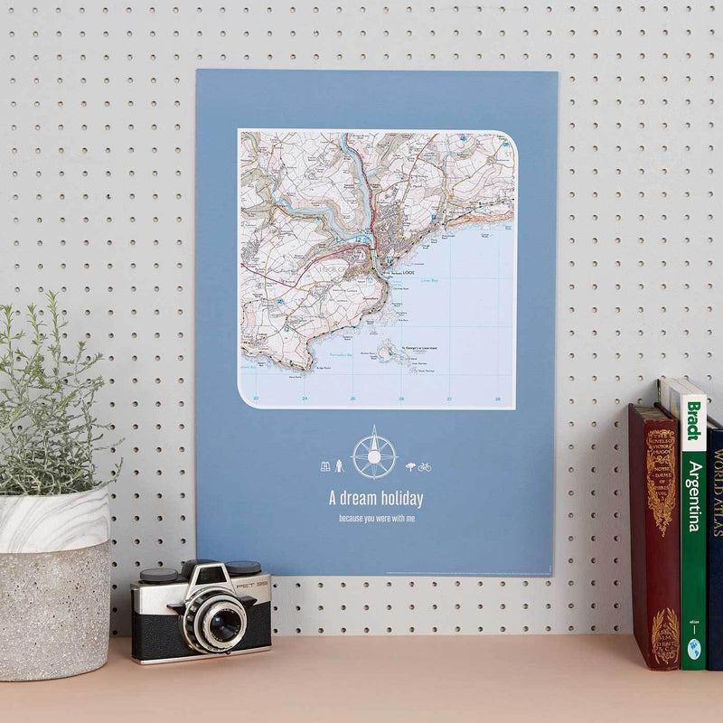 Personalised Postcode Map Print