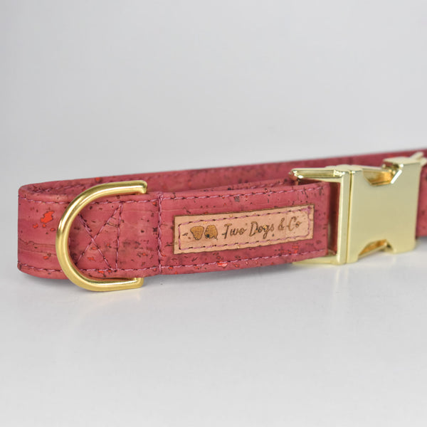 Pink Cork Dog Collar