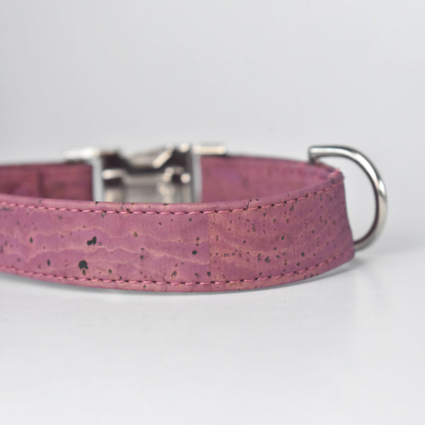 Purple Cork Dog Collar
