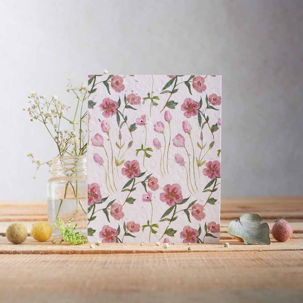 Roses & Lisianthus Seed Card