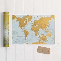 Travel The World Scratch Map