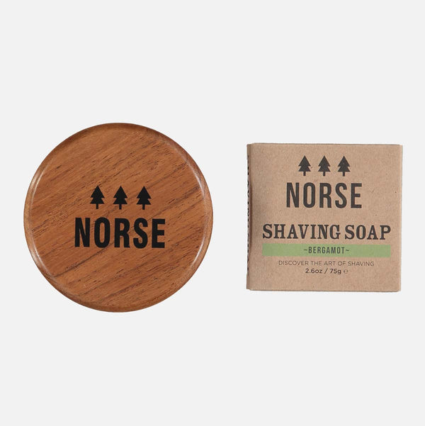 Bergamot Shaving Soap and Bowl by Norse