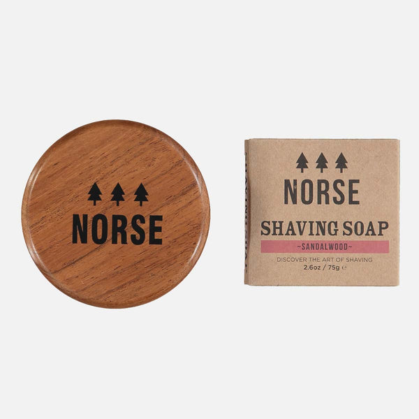 Sandalwood Shaving Soap and Bowl by Norse