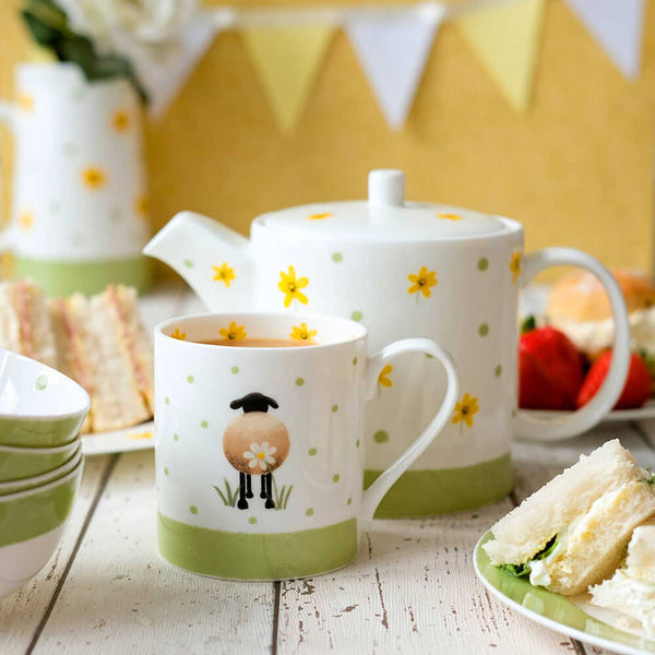 Sheep and Daisy Mug by Lucy Pittaway