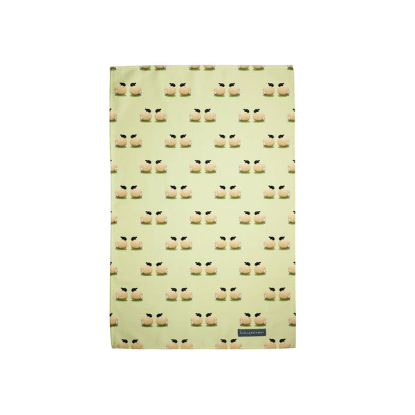 Sheep and Daisy Tea Towel