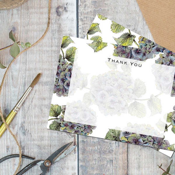 Hydrangea Thank You Cards Set of 6