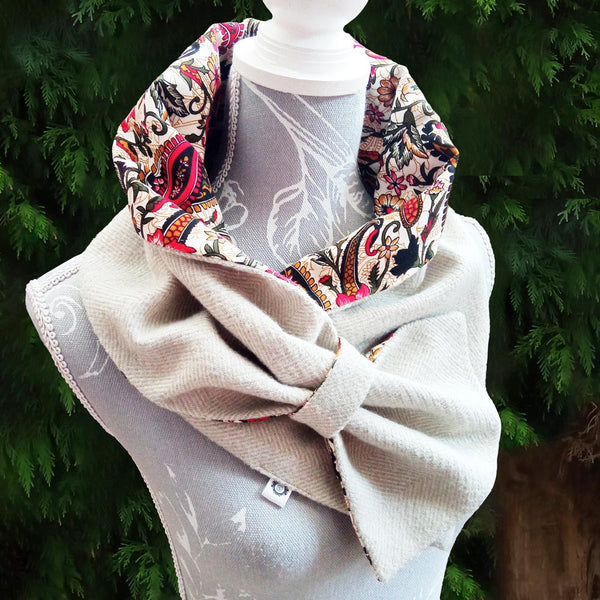 Taupe & Paisley Snood