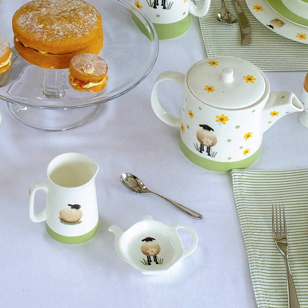 Teabag Tidy Sheep and Daisy Tableware Kitchen