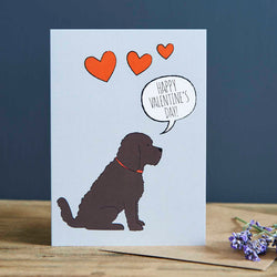 Cockapoo Valentine's Day Card
