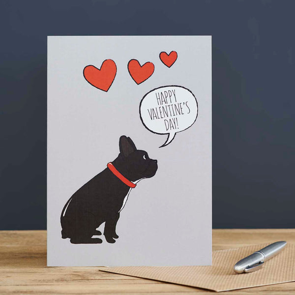 French Bulldog Valentine's Day Card