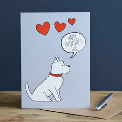 Westie Valentine's Day Card