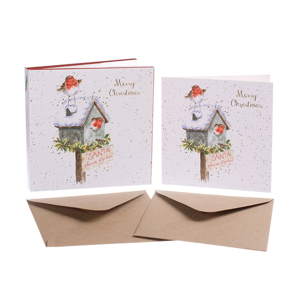 'Please Stop Here' Christmas Card Pack