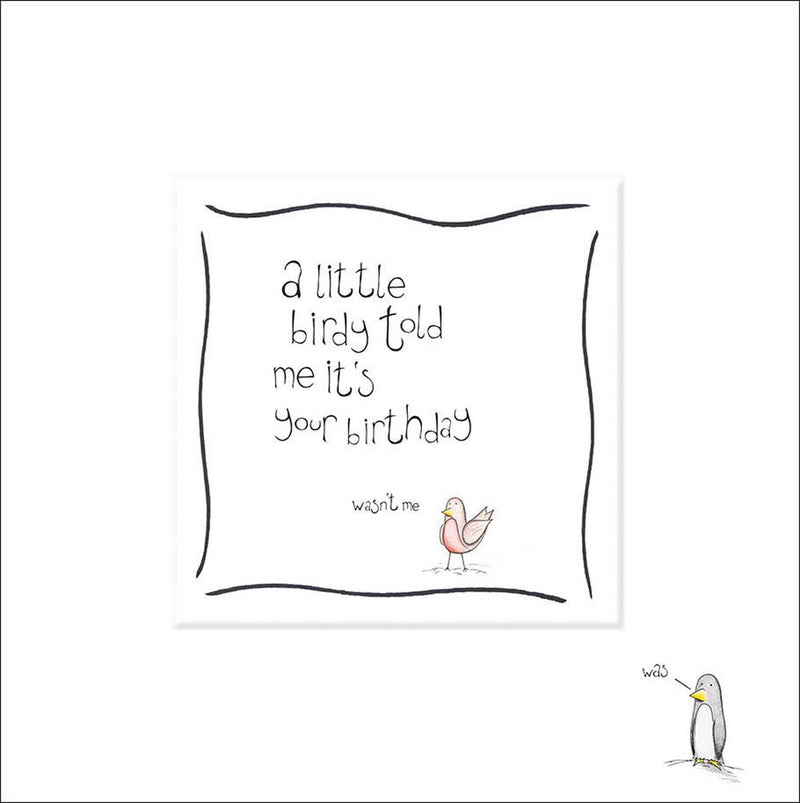 Little Birdy Birthday Card