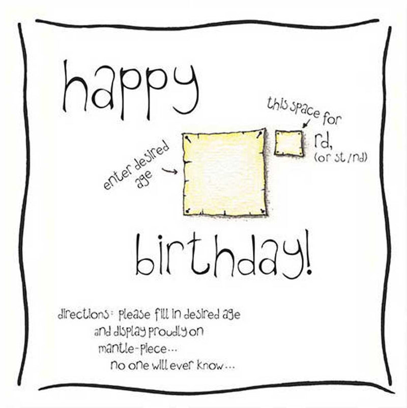 Enter Desired Age Birthday Card