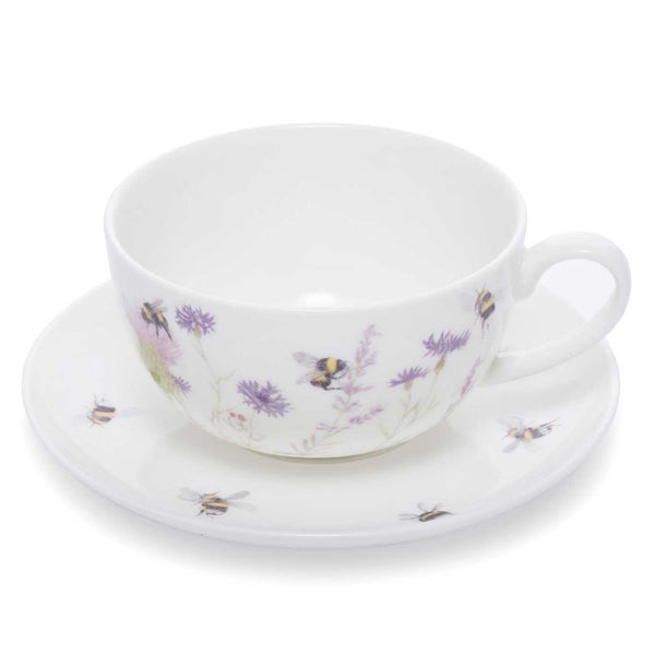 Bee & Flower Cup & Saucer