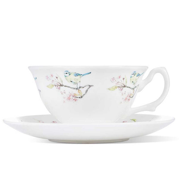 Blue Tit on Blossom Cup & Saucer