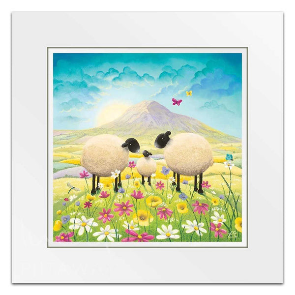 Butterflies and Babies - Sheep Art