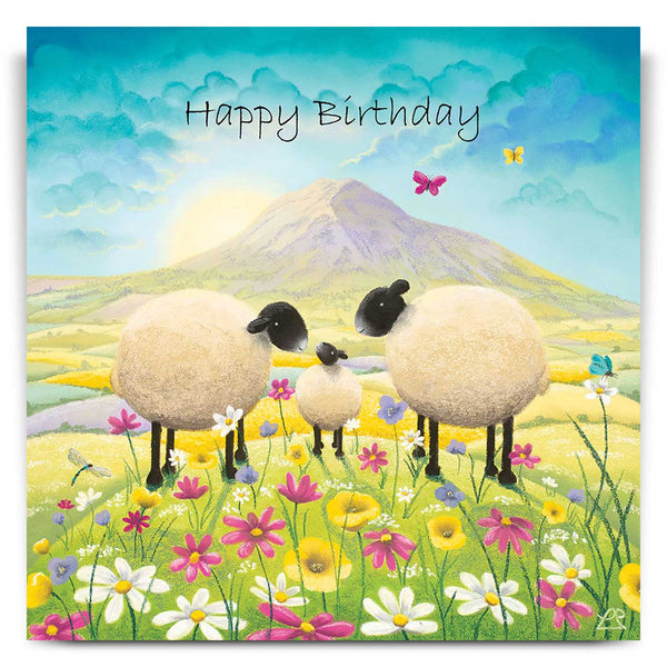 Butterflies and Babies Birthday Card