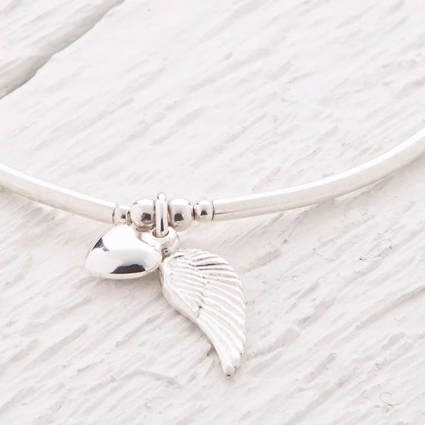 Lailah Silver Angel Wing Bangle