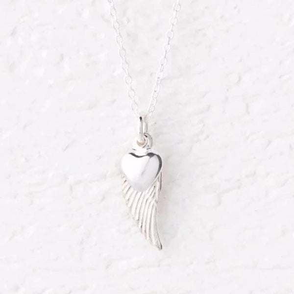 Lailah Silver Angel Wing Necklace