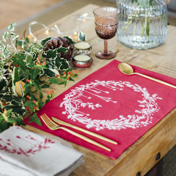 Christmas Linen Placemats