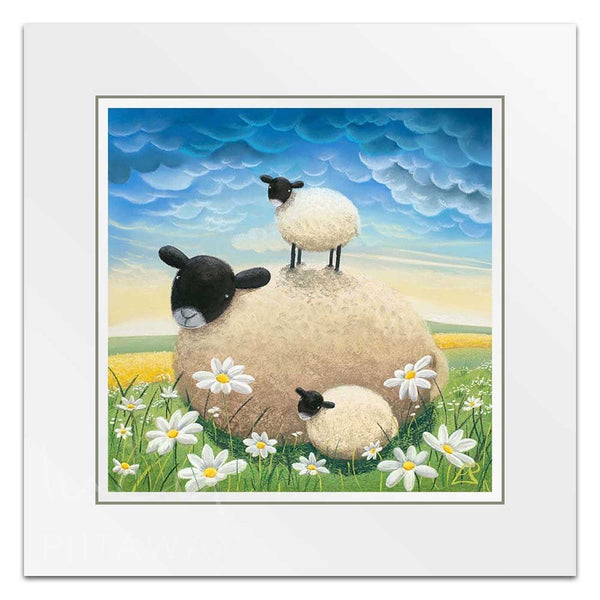 Double Trouble - Sheep Art by Lucy Pittaway
