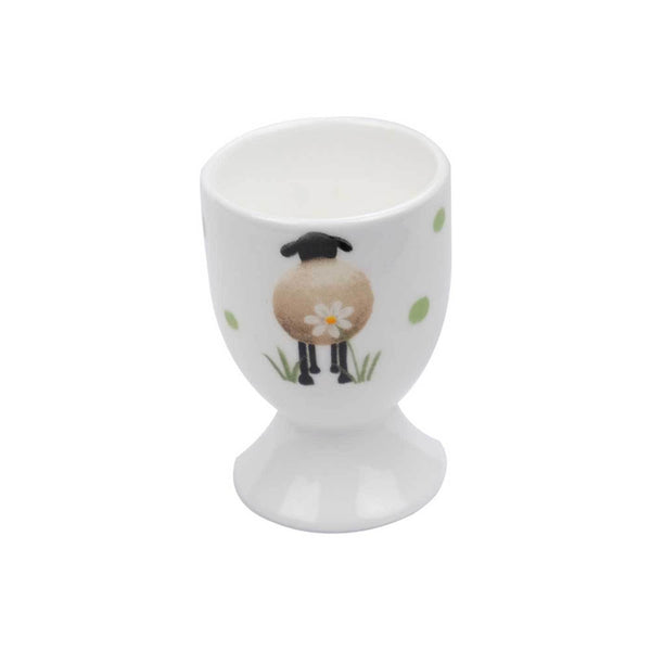 Sheep and Daisy Egg Cup