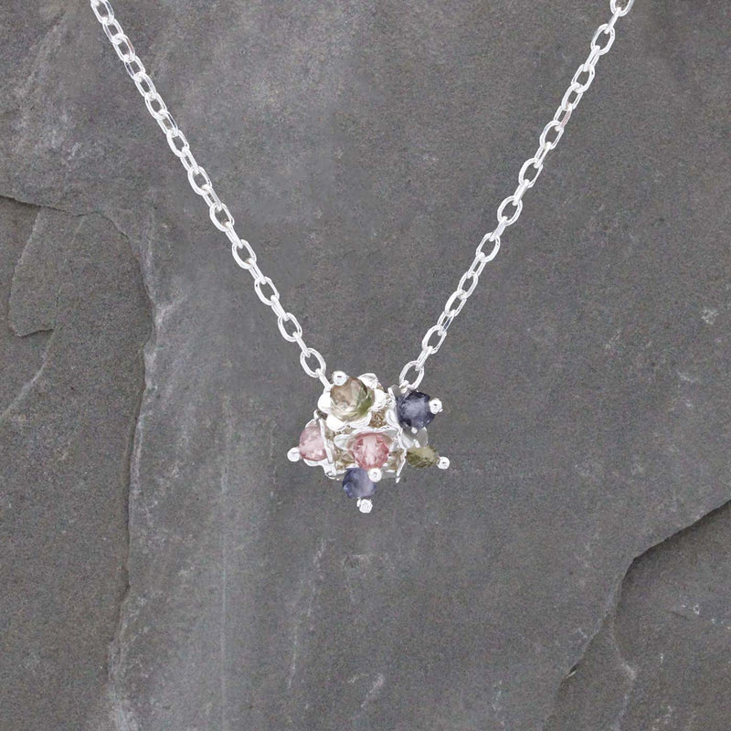 Forget Me Not Cluster Flower Necklace Jewellery