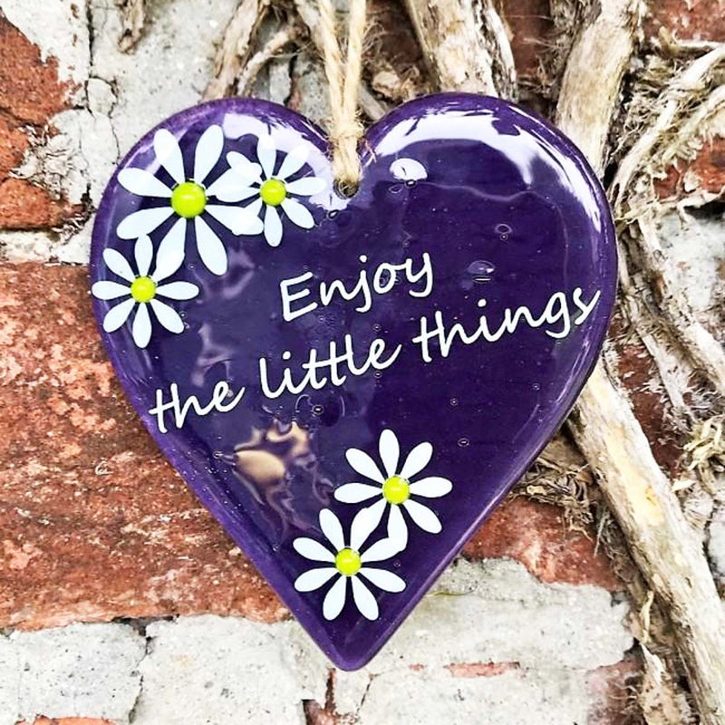 Inspirational Hanging Daisy Heart