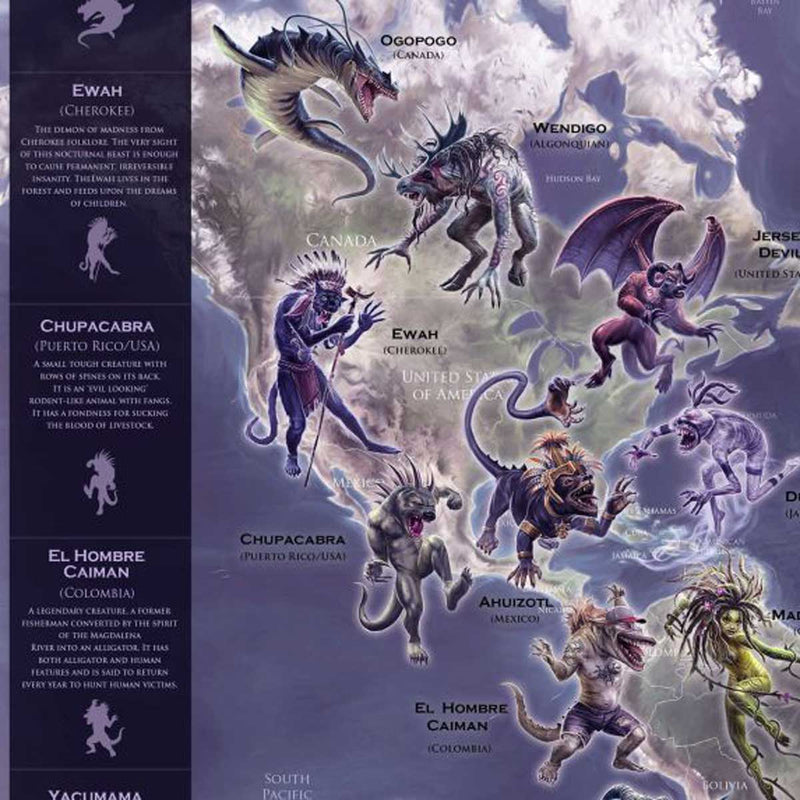 Mythical Monster World Map
