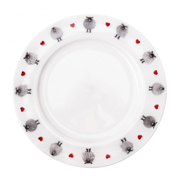Black & White Sheep Dinner Plate by Lucy Pittaway
