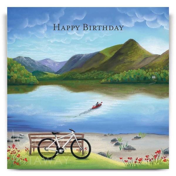 Lakeland Rush Hour Birthday Card by Lucy Pittaway