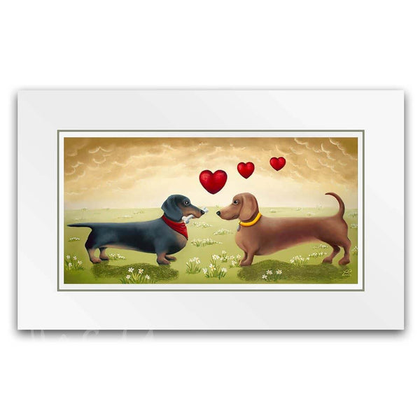 Love is in the Air - Mounted Print