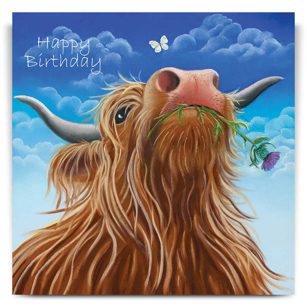 Major Thistle Birthday Card