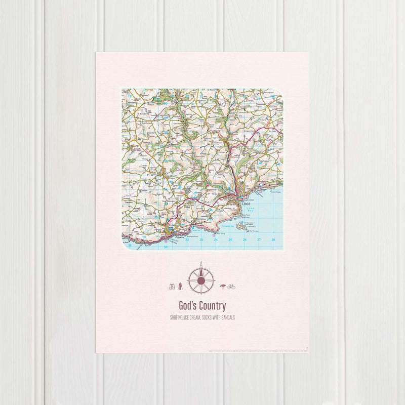 Personalised Postcode Map
