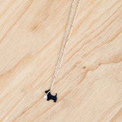 Scottie On A Lead Necklace Jewellery