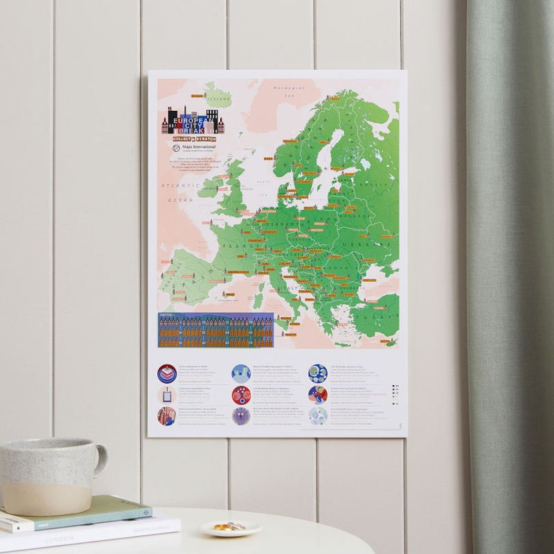 European City Breaks Collect & Scratch Map