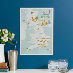Gin Distilleries Collect & Scratch Map by Maps International