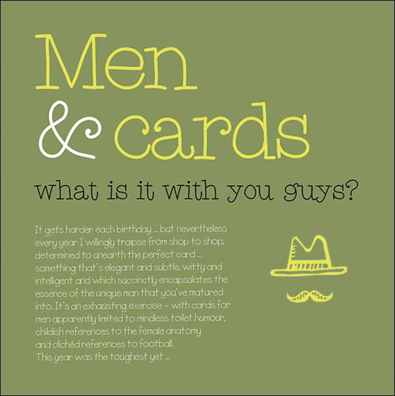 Men & Cards Birthday Card