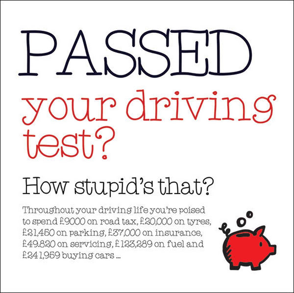 Passed your driving test? Card