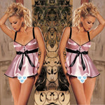 Lace lingerie White babydoll Dress Sleepwear Nightwear Underwear G-String