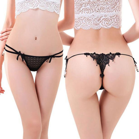 Women Sexy Lace Knickers Panties Lingerie Briefs Underwear Thongs G-string