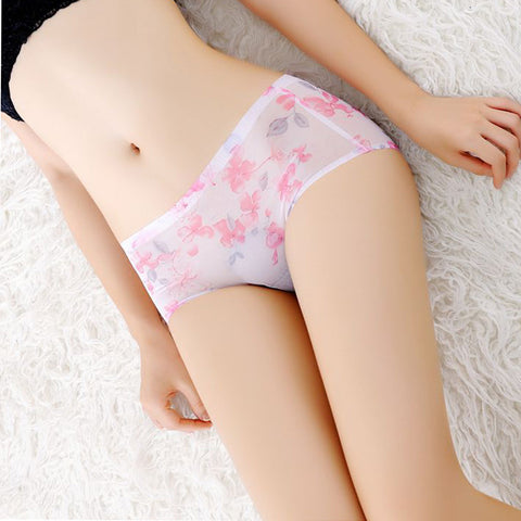 Women Printed Briefs Panties Thongs Boyshort Lingerie Underwear