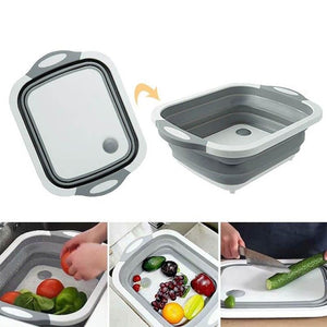 3 in 1 Foldable Basket & Cutting Board