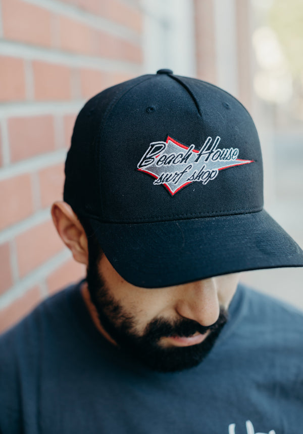Flexfit Hat with Beach House Diamond Logo - Surf N' Wear Beach House Online