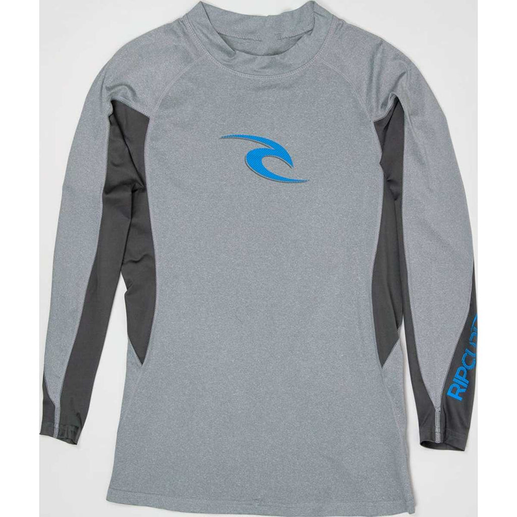 Wave Long Sleeve Rash Guard in Grey